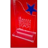 troféu para formatura em acrílico transparente