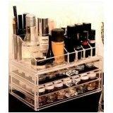 porta maquiagem de acrílico com gavetas loja de no Alto de Pinheiros