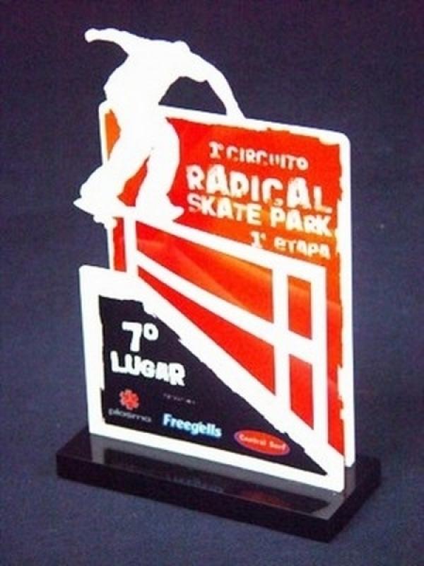 Troféu Raquete de Tênis
