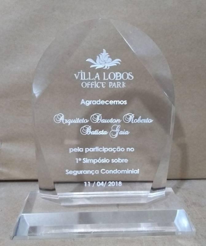 Troféu e Medalha em Acrílico