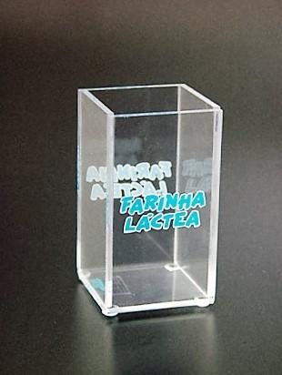 Porta Lápis com Acrílico Loja de na Água Branca - Porta Lápis de Acrílico