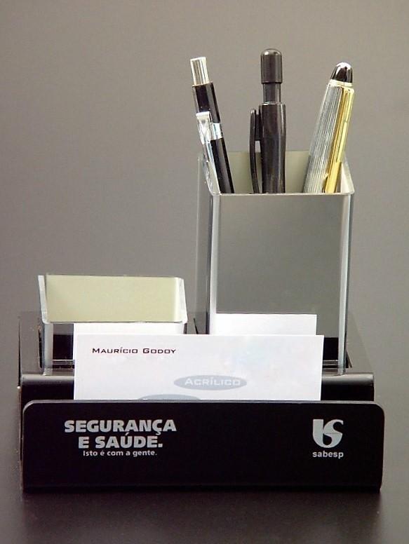 Porta Lápis de Acrílico para Personalizar no Pacaembu - Porta Caneta de Acrílico