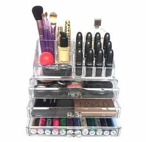Porta Maquiagens de Acrílico com Espelhos no Jaguaré - Porta Maquiagem de Acrílico Personalizado