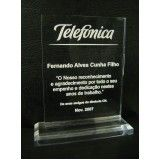confecção de troféus de acrílico preço no Jaguaré