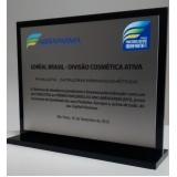 empresa de troféu para formatura em acrílico transparente em Sumaré