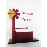 troféu corporativo de acrílico sob medida preço em São Domingos