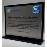 troféu de acrílico para encomenda no Alto de Pinheiros