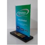 troféu de acrílico para premiação preços Rio Pequeno