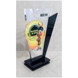 troféu de brinde acrílico para premiação sob encomenda Casa Verde