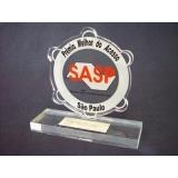 troféu em acrílico premiação Butantã