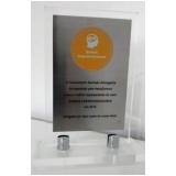 troféu em acrílico tipo personalizado preço Água Branca
