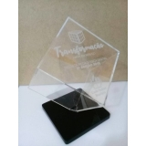troféu feito de acrílico personalizado Granja Julieta