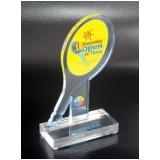 troféu placa acrílico valores Bosque da Saúde