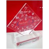 troféu personalizado acrílico para premiação