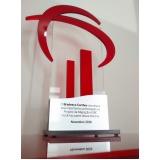 troféus corporativos de acrílico sob medida em Perus
