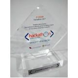 troféus em premiação Parque das laranjeiras
