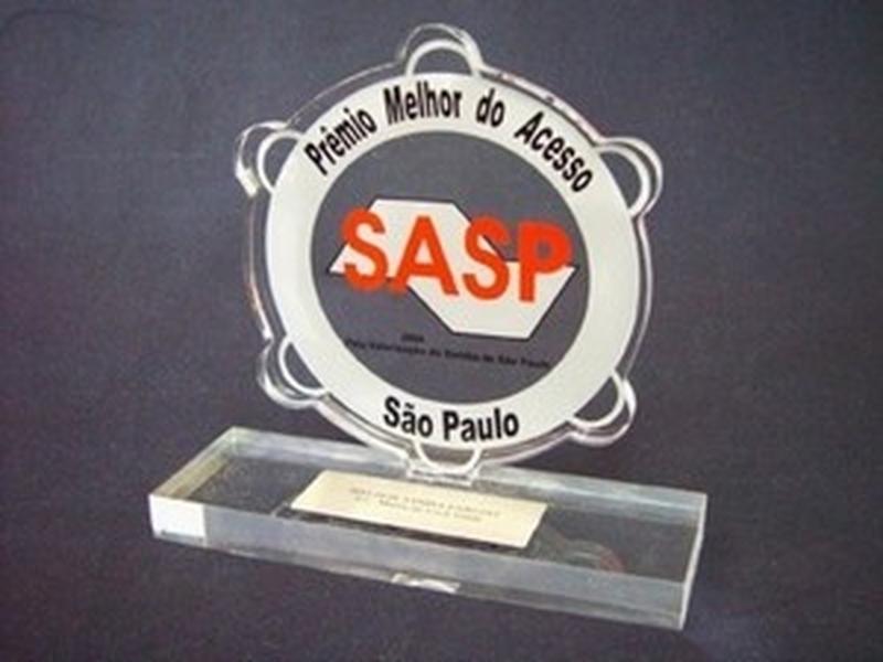 Troféu Acrílico Vila Santa Cruz - Troféu Acrílico para Premiação