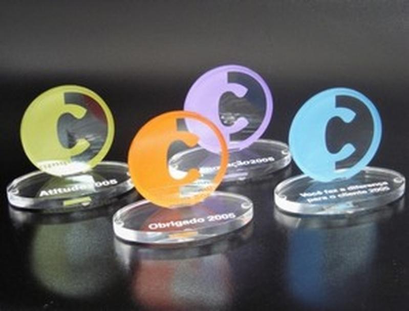 Troféu de Acrílico Futebol de Salão Cambuci - Troféu de Acrílico para Jogo de Futebol