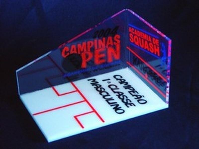 Troféu de Acrílico para Competição Valores Jaraguá - Troféu de Acrílico para Jogo