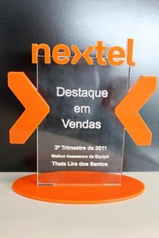 Troféu de Acrílico para Empresa Jardim Guedala - Troféu Acrílico para Premiação