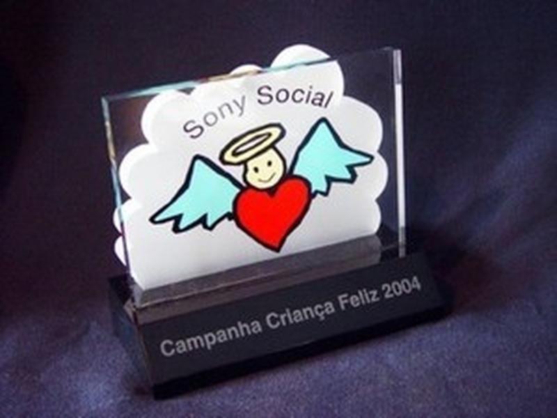 Troféu de Acrílico para Prêmio Mooca - Troféu Acrílico Homenagem