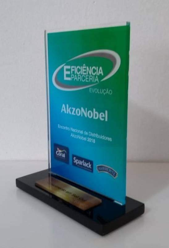 Troféu em Acrílico Personalizado para Homenagem Pacaembu - Troféu e Medalha em Acrílico