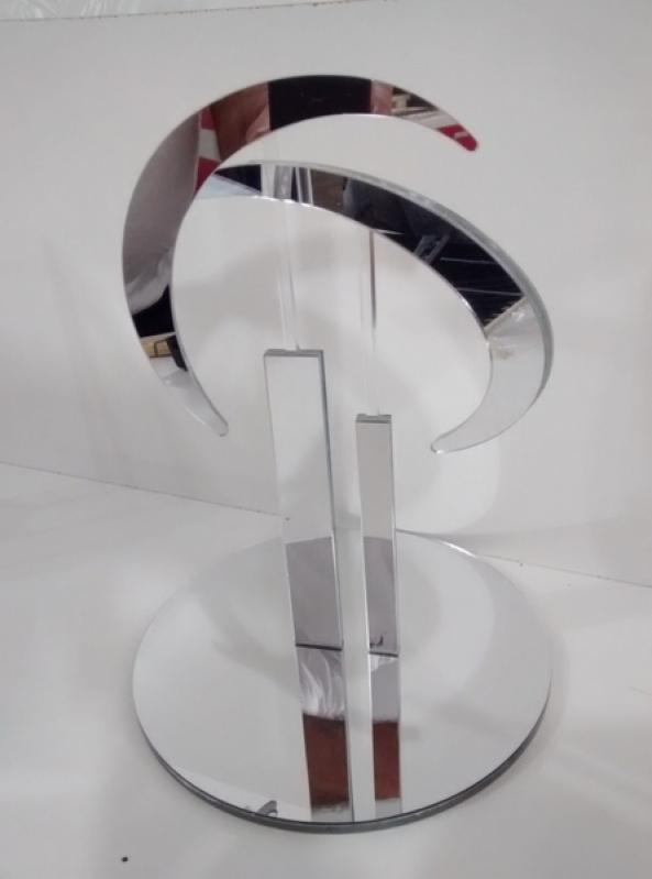 Troféus de Acrílico para Prêmio Vila Santa Cruz - Troféu de Acrílico para Competição