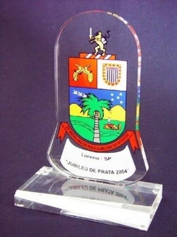 Venda de Troféu de Acrílico Futebol Água Branca - Troféu Acrílico Futebol